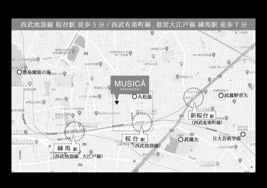 MUSICA マップ